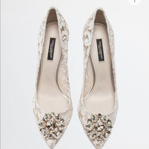 Dolce & Gabbana PUMP IN TAORMINA LACE WT CRYSTALS